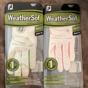 Women's left small golf glove
